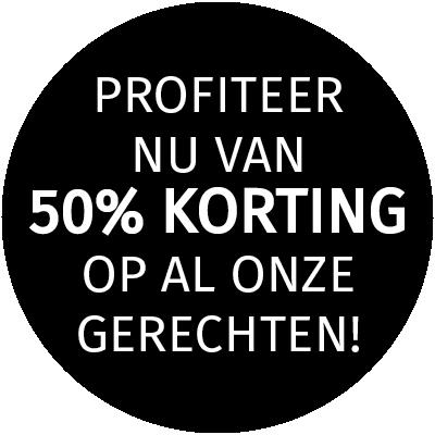 50%korting afhalen